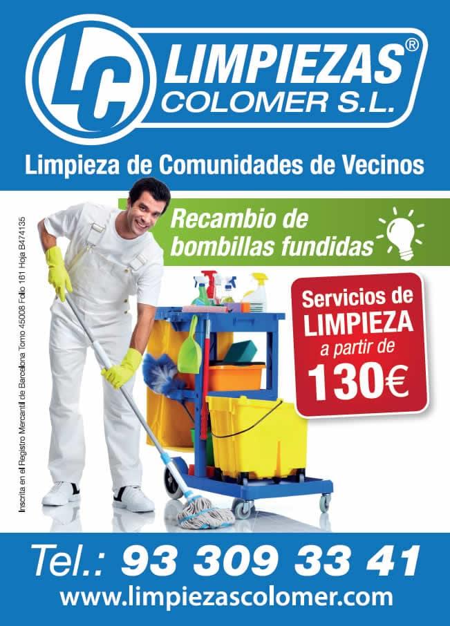 LIMPIEZAS COLOMER BARCELONA COMUNIDADES