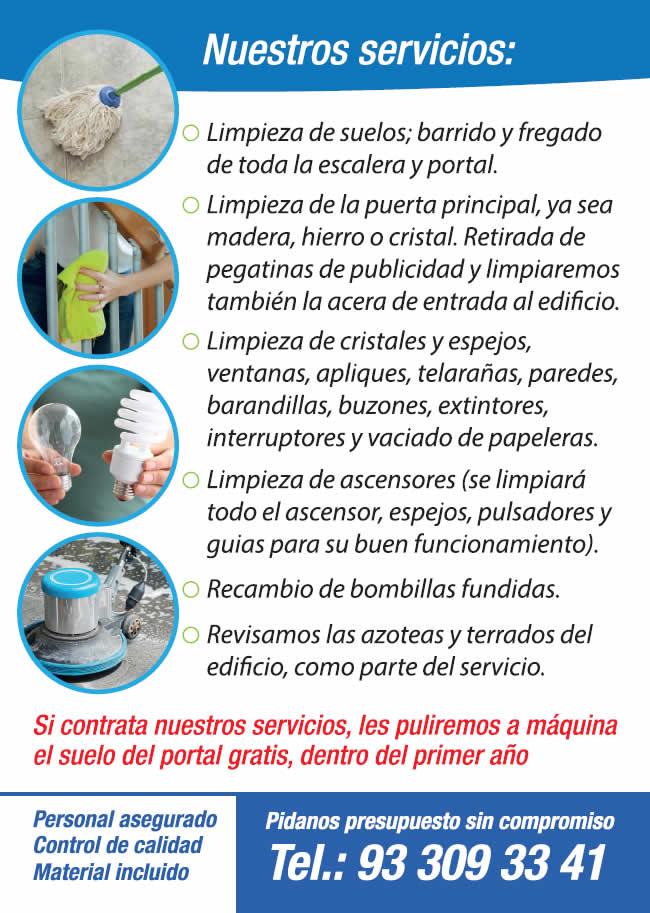 LIMPIEZAS COLOMER BARCELONA ESCALERAS
